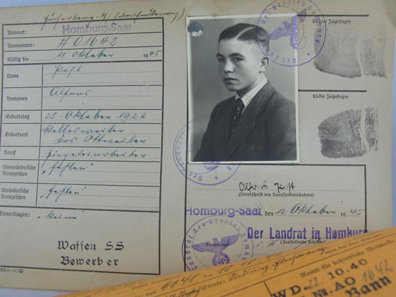 Fiche de candidature pour la Waffen SS 51680